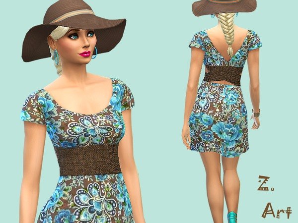 The Sims Resource: Last Summerday dress by Zuckerschnute20