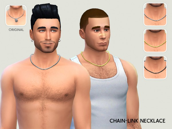 Lumia Lover Sims: Chain link necklace for dudes