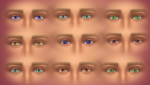 Mod The Sims: Fantastic colors eyes by malicieuse75