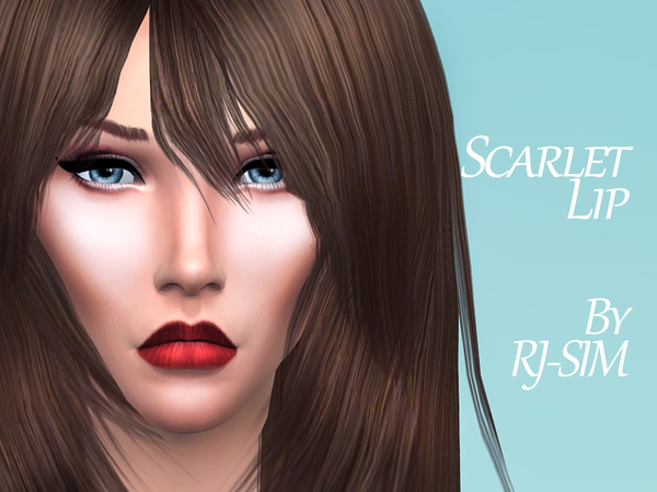 The Sims Resource: Scarlet Lipstick by RJ SIM