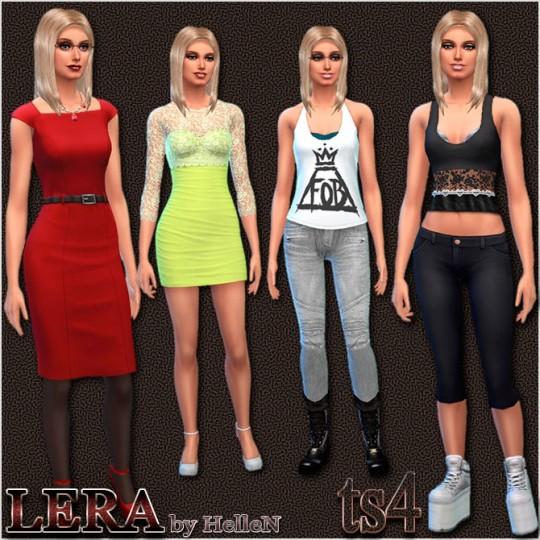 Sims Creativ: Lera female sims model by HelleN