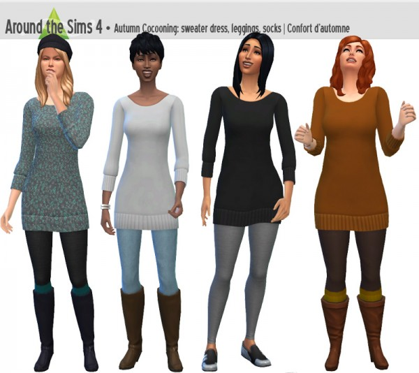 Around The Sims 4: Sweater Dress