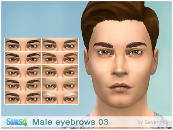 Sims by Severinka: Male eyebrows 03