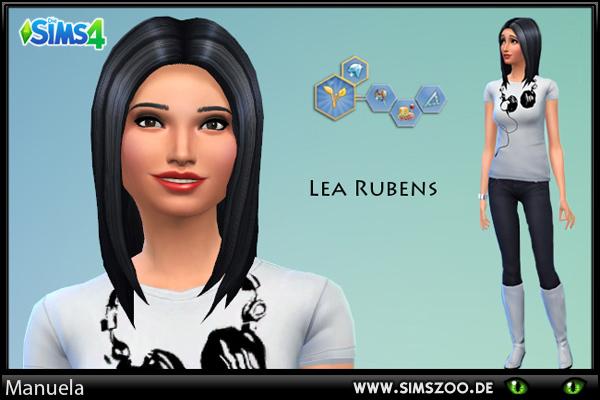 Blackys Sims 4 Zoo: Lea Rubens female sims model