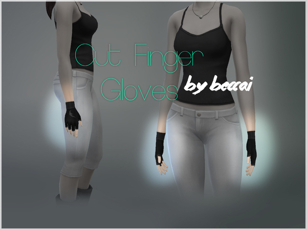 The Sims Resource: Cut Finger Gloves by BeccAi