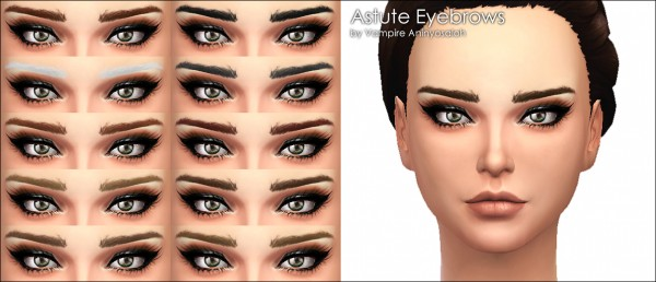 Mod The Sims: Astute Eyebrows  non default  by Vampire aninyosaloh