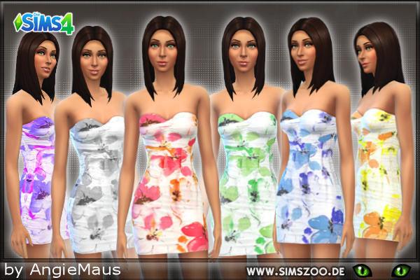 Blackys Sims 4 Zoo: Summer Flowers dress by Kleid