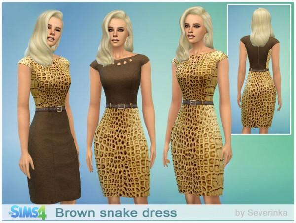 Sims by Severinka: Brown snake dress