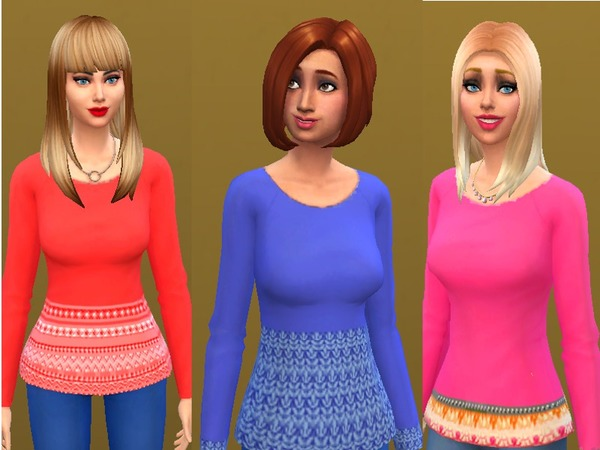 The Sims Resource: Sweater border collection by jdamgaard
