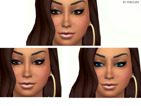 The Sims Resource: Leopard Lenses by Pure Sims