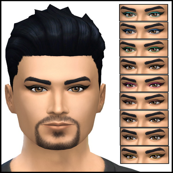 Simista: Winged Eye Shadow For Males