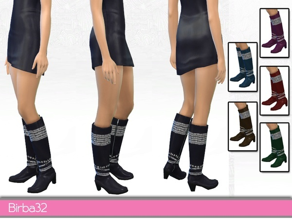 The Sims Resource: Decorated boots by Birba 32