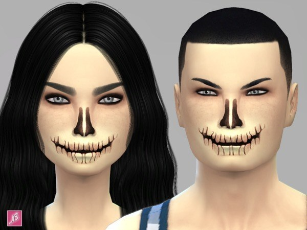 The Sims Resource: Halloween Skeleton Face Mask by Alexandra Sine