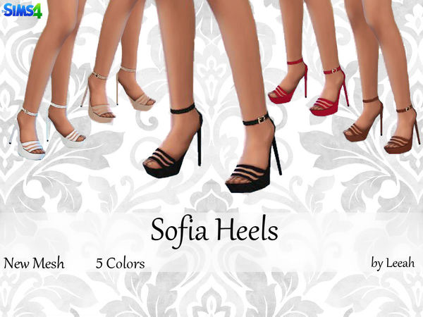 The Sims Resource: Sofia Heels by Leeah