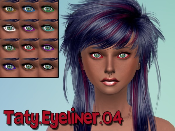 The Sims Resource: Eyeliner 04 by Taty