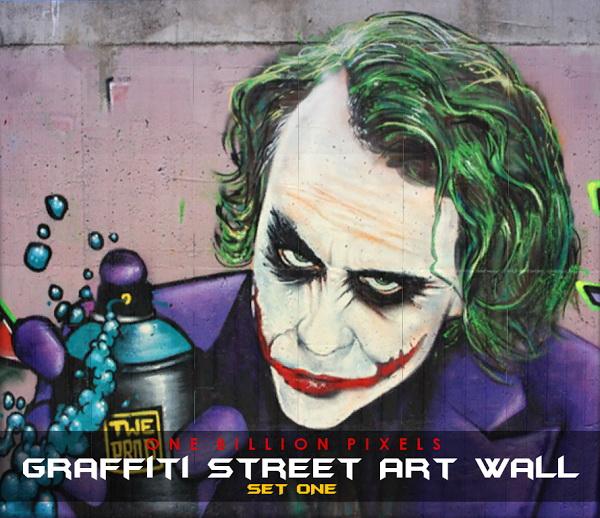 One Billion Pixels: Graffiti Street Art Wall Set 1