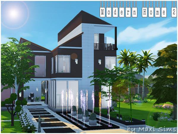 Akisima sims blog modern home 2 by maxi sims sims 4 for Modern home blog