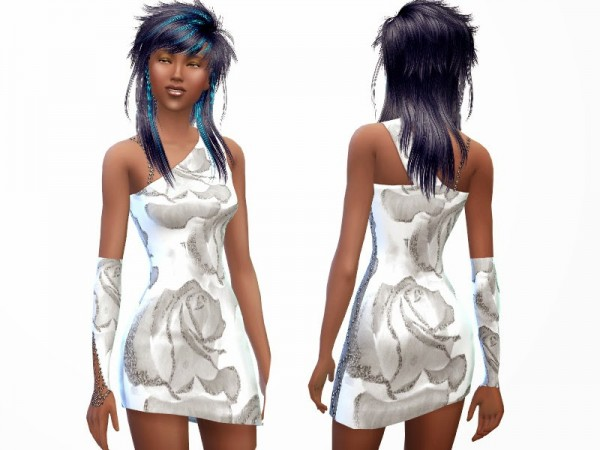 Altea127 SimsVogue: Asymmetric Dress