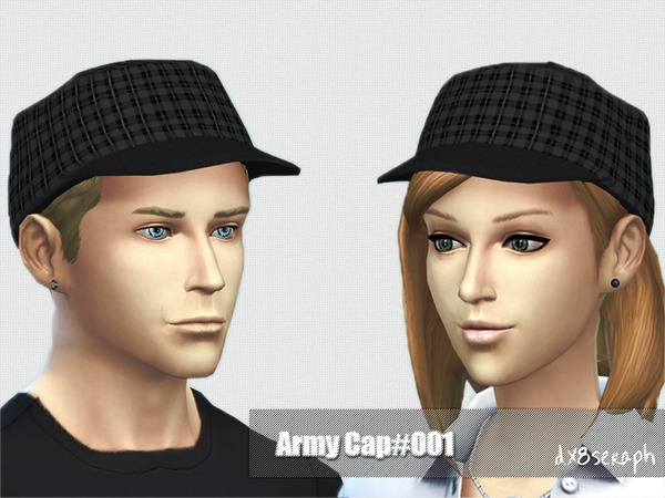 The Sims Resource: Army Cap 001 by dx8seraph