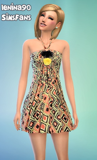 Sims Fans: Missoni dress by lenina 90
