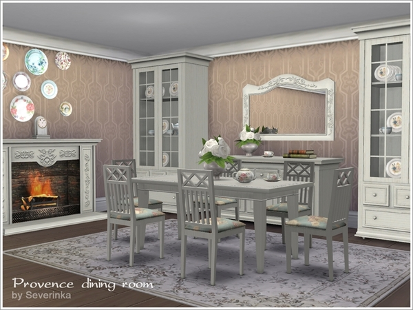 The sims resource provence dining room by severinka for Sims 3 dining room ideas