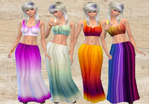 Trudie55: Matching long skirt and tops