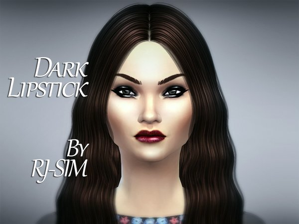 The Sims Resource: Dark Lipstick by RJ SIM