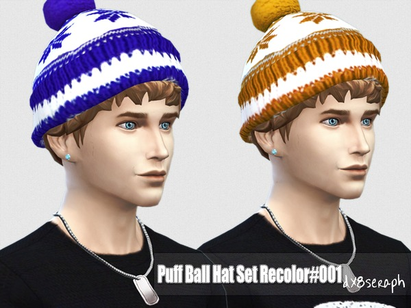 The Sims Resource: Puff Ball Hat Set#001 by dx8seraph
