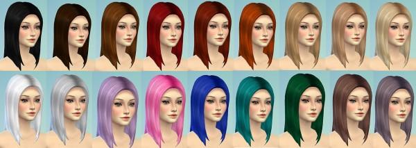 Sevenhill Sims: Long straight hair retexture