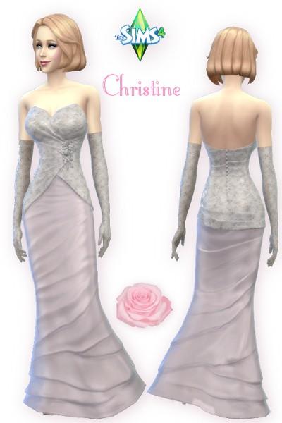 CC4Sims: Christine dress