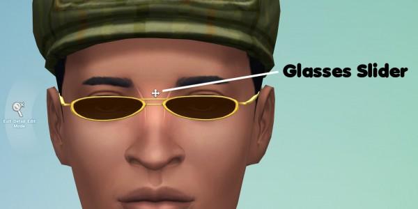 Mod The Sims: Glasses Slider by EVOL EVOLVED