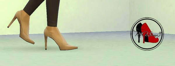 MA$ims 3: Nude Stiletto High Heel Shoes