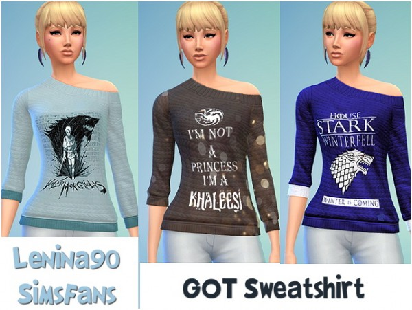 Sims Fans: GOT switshirt by lenina90