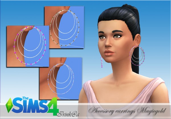 Irinka: Accessory earrings Magicgold