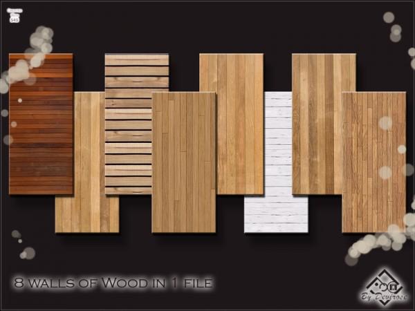 The Sims Resource Intense Wood Walls Set By Devirose