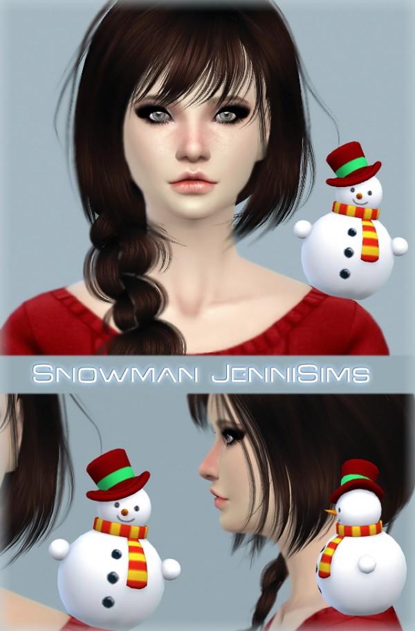 Jenni Sims: Accessory Snowman by JenniSims