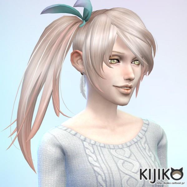 kijiko side ponytail hair � sims 4 downloads
