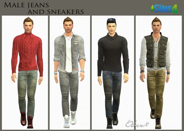 OleSims: Male jeans and high top sneakers  by OleSims
