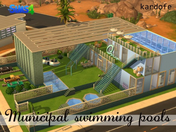 The sims resource municipal swimming pools by kardofe for Pool design sims 4