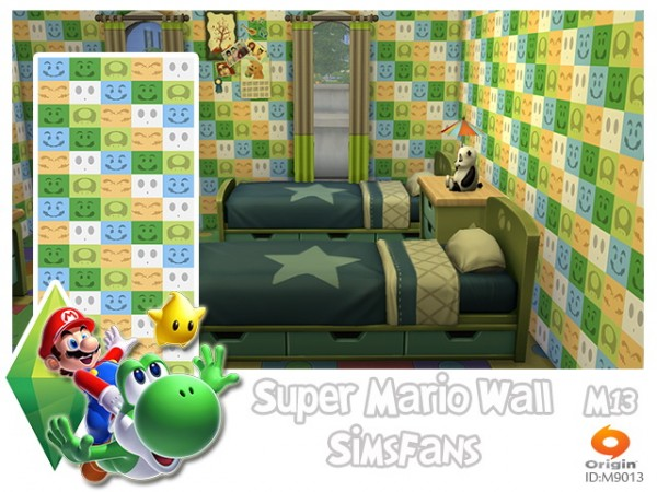 Sims Fans: Super Mario Wall by M13