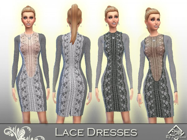 The Sims Resource: Lace Dresses by Devirose