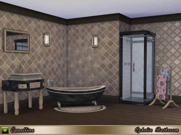 The Sims Resource: Ophelia Bathroom by Canelline