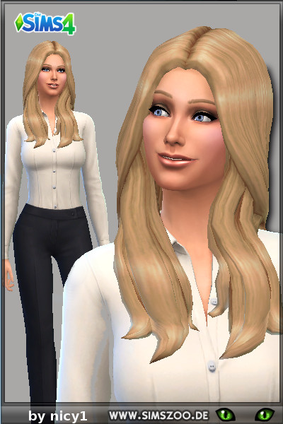 Blackys Sims 4 Zoo: Jennifer Jareaun 1 female sims model by nicy1