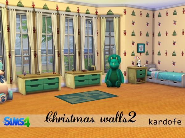 The Sims Resource: Christmas walls 2 b Kardofe