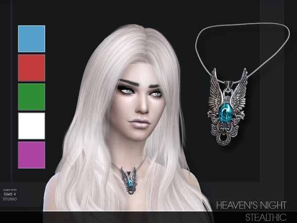 The Sims Resource Heaven S Night Necklace By Stealthic