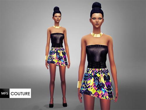 MissFortune Sims: Vivid Mood Dress
