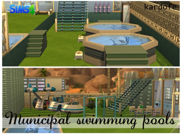 The sims resource municipal swimming pools by kardofe for Pool design sims 3