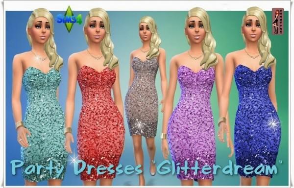 Annett`s Sims 4 Welt: Party Dresses Glitterdream