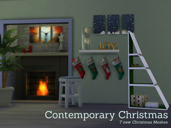 The Sims Resource: Contemporary Christmas Decorations by Angela