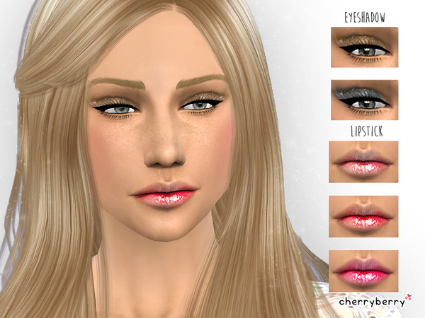 The Sims Resource: Dash of sparkle   Makeup set 02 by  CherryBerrySim
